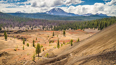 Photograph - Mount Lassen With Painted Dunes From Cinder Cone by Pierre Leclerc Photography