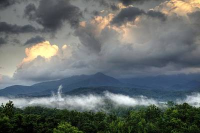 Photograph - Mount Le Conte After The Storm by Coby Cooper