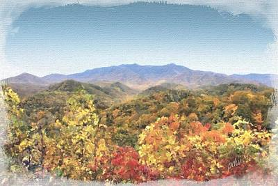 Garden Scene Mixed Media - Mount Leconte In Autumn #3 by Philip White