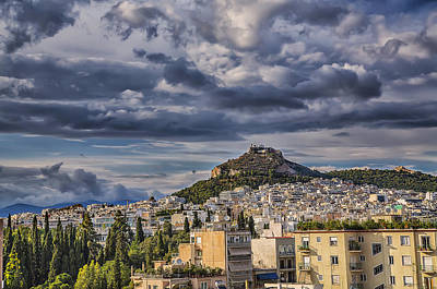 Print featuring the photograph Mount Lycabettus In Late Afternoon by Micah Goff