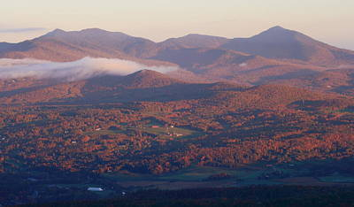 Photograph - Mount Mansfield First Light From Stowe Pinnacle by John Burk