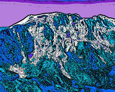 Surrealism Royalty-Free and Rights-Managed Images - Mount Massive - Colorado by David G Paul