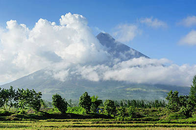 Mayon Photograph - Mount Mayon Volcano, Legazpi, Southern by Michael Runkel