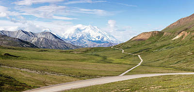 Mount Mckinley And Thorofare Pass Art Print by Panoramic Images