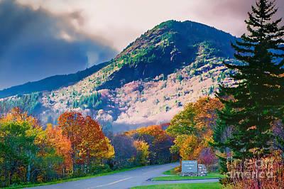 Photograph - Mount Mitchell Digital Paint by Scott Hervieux