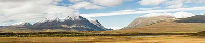 Mount Moffit And Mcginnis Peak Landmark Art Print by Panoramic Images