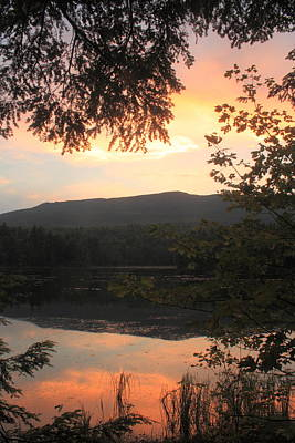 Mount Monadnock Photograph - Mount Monadnock Gilson Pond Sunset by John Burk