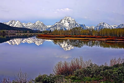 Mount Moran And Jackson Lake Art Print