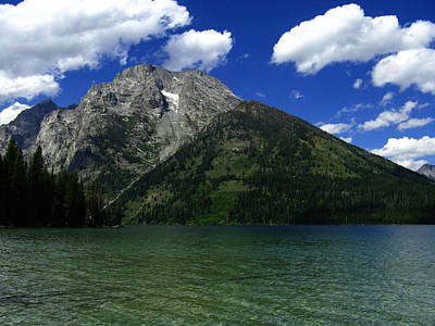 Photograph - Mount Moran And Leigh Lake by Raymond Salani III