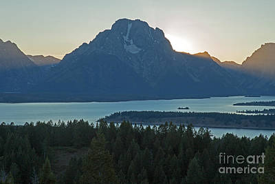 Photograph - Mount Moran Lake Jacksonsignal Mountain Grand Teton National Park  by Fred Stearns