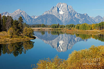 Photograph - Mount Moran Oxbow Bend Grand Teton National Park by Fred Stearns