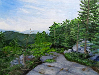 Painting - Mount Morgan Trail by Linda Feinberg