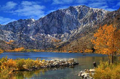 Fall Foliage Photograph - Mount Morrison Overlooking Convict Lake by Donna Kennedy