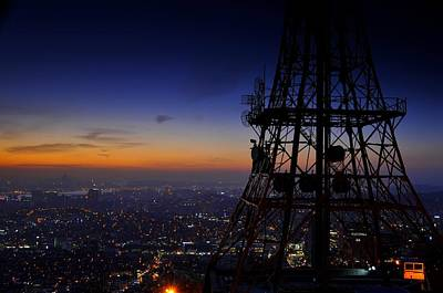Night Views Photograph - Mount Namsan Twilight by Aaron Bedell