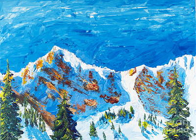 Painting - Mount Ogden Bowl by Walt Brodis