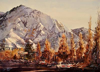 Olympus Painting - Mount Olympus by Brienne M Brown
