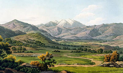 Hills Drawing - Mount Olympus by Edward Dodwell