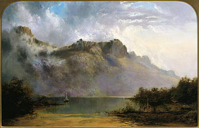 Olympus Painting - Mount Olympus. Lake St Clair. Tasmania The Source Of The Derwent by William Charles Piguenit