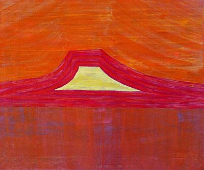 Abiquiu Painting - Mount Pedernal Original Painting by Sol Luckman
