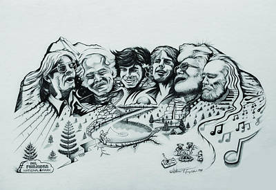 Phish Drawing - Mount Philmore by William T Templeton