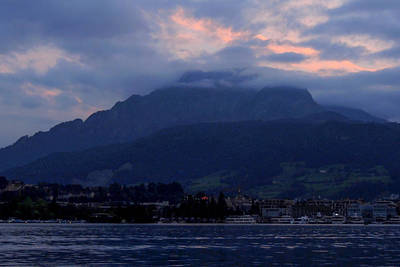 Photograph - Mount Pilatus At Sunset by Marilyn Burton
