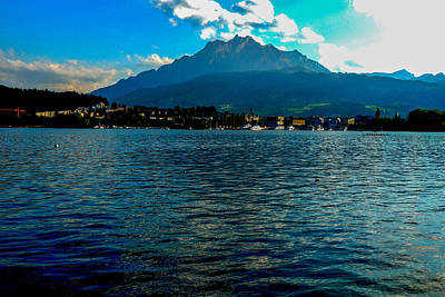 Photograph - Mount Pilatus Over Lake Lucerne by Marilyn Burton