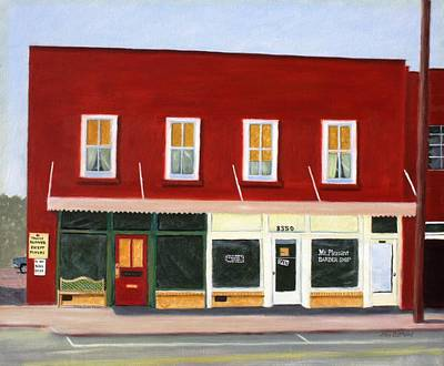 Furniture Store Painting - Mount Pleasant Barber Shop by Stacy C Bottoms