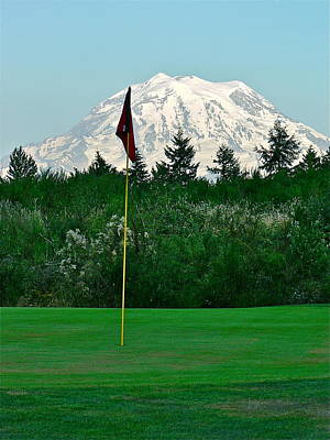 Photograph - Mount Rainer At Lipoma Firs by Jean Wright