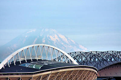 Photograph - Mount Rainier Backdrop by Kristin Elmquist