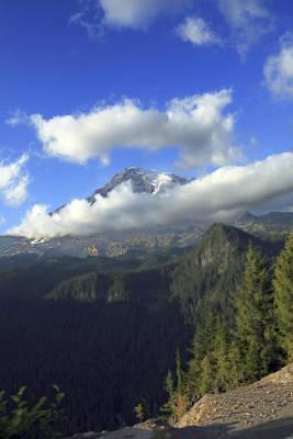 Photograph - Mount Rainier by CE Haynes