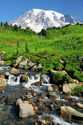 Mount Rainier From Paradise Art Print by Michel Hersen