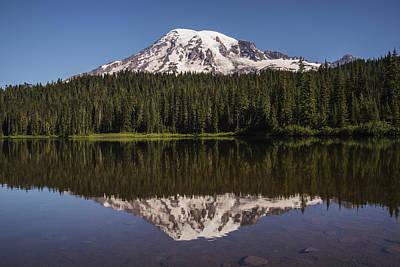 Photograph - Mount Rainier Reflection Lake by Lee Kirchhevel