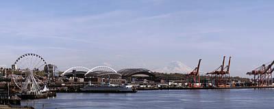 Mount Rainier Seattle Waterfront Art Print