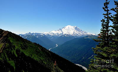 Mount Rainier Seen From Crystal Mountain Summit  4 Art Print by Tanya  Searcy