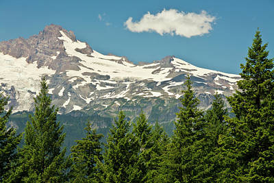 Snow-covered Landscape Photograph - Mount Rainier, Snow Covered, Road by Michel Hersen