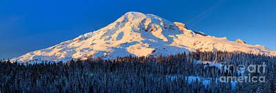 Mount Rainier Winter Evening Art Print