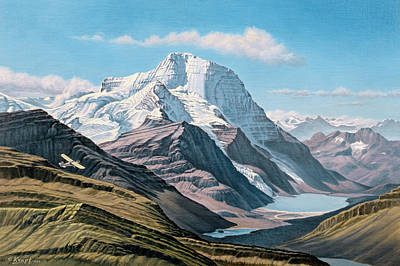 Canada Landscape Painting - Mount Robson From The Air    by Paul Krapf