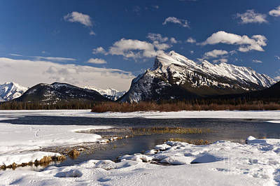 Mount Rundle Art Print by Dee Cresswell