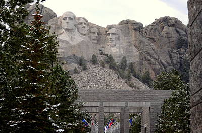 Photograph - Mount Rushmore Above The Pines by Clarice  Lakota
