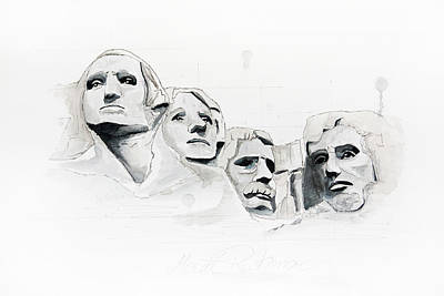 Mount Rushmore Art Print by Astrid Rieger