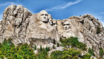 Photograph - Mount Rushmore by Don Durfee