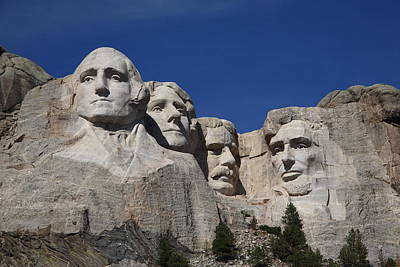 Statue Portrait Photograph - Mount Rushmore by Frank Romeo