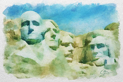Painting - Mount Rushmore by Greg Collins
