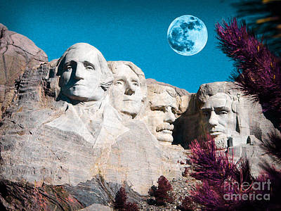 Mount Rushmore Mixed Media - Mount Rushmore In South Dakota by Celestial Images