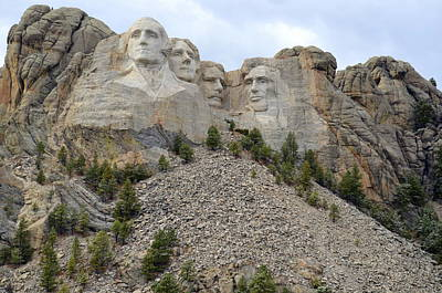 Photograph - Mount Rushmore In South Dakota by Clarice  Lakota