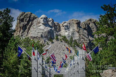 Photograph - Mount Rushmore National Memorial by Debra Martz