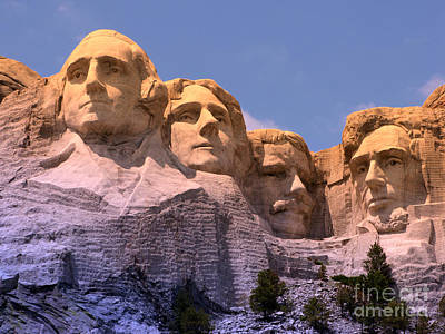 Mount Rushmore Art Print by Olivier Le Queinec