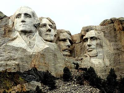 Photograph - Mount Rushmore Presidents by Clarice  Lakota