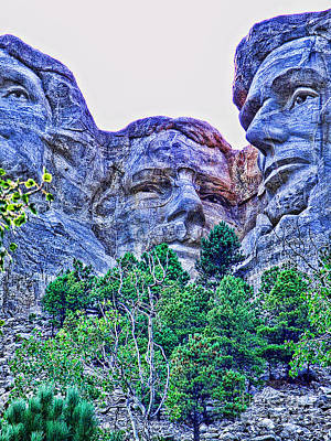 Mount Rushmore Roosevelt Art Print by Tommy Anderson