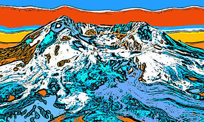 Surrealism Digital Art - Mount Saint Helens - Washington by David G Paul